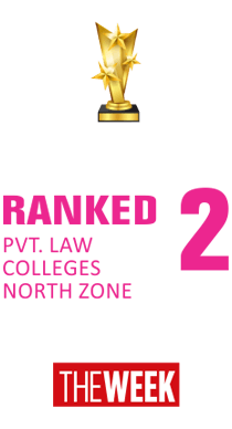 Ranked 2 pvt. law Colleges north zone